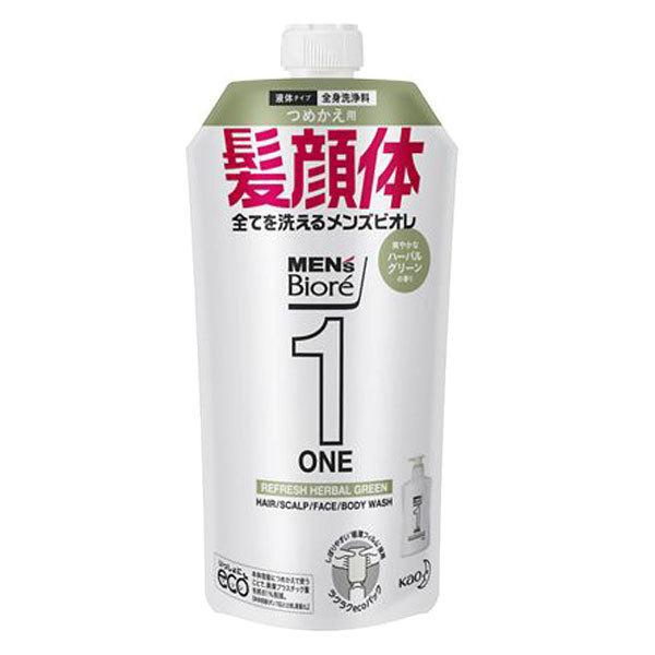ONE オールインワン全身洗浄料 爽やかなハーバルグリーンの香り / 詰替え / 340ml / 爽やかなハーバルグリーンの香り