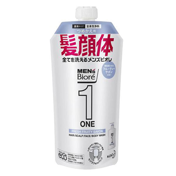 ONE オールインワン全身洗浄料 清潔感のあるフルーティーサボンの香り / 詰替え / 340ml / 清潔感のあるフルーティーサボンの香り