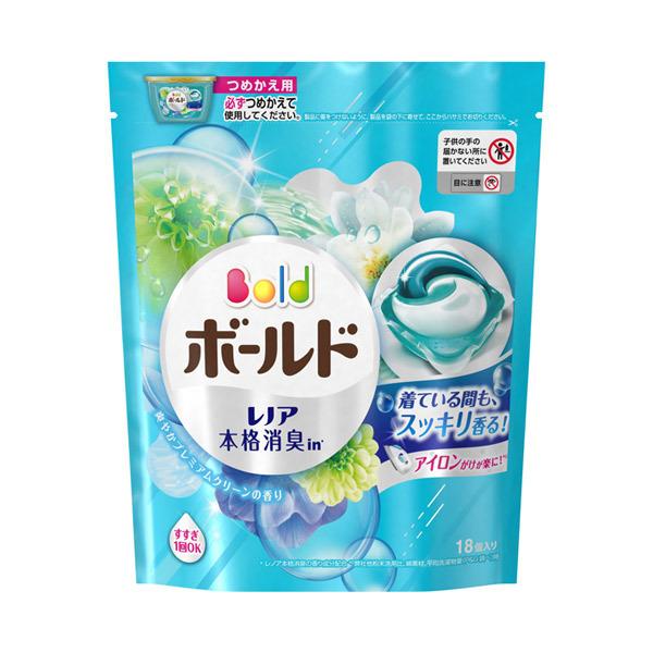 ボールドジェルボール3D 爽やかプレミアムクリーンの香り / 詰替え / 18個