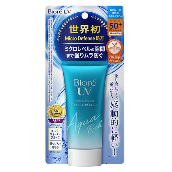 ビオレUV アクアリッチ ウォータリーエッセンス / SPF50 / PA++++ / 50g / ホワイトミュゲのやさしい香り