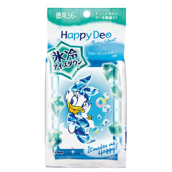 ハッピーデオ ボディシート アイスダウン フローズンシャボン徳用 / 36枚