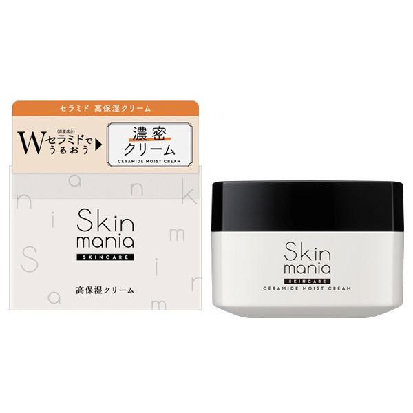 Skin mania セラミド 高保湿クリーム / 80g / しっとり / みずみずしいハーバルフレッシュの香り