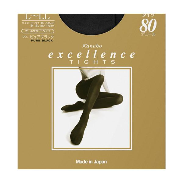 excellence タイツ(80D) / ピュアブラック / L-LLサイズ・1枚入り