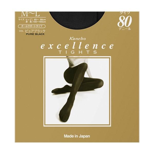 excellence タイツ(80D) / ピュアブラック / M-Lサイズ・1枚入り