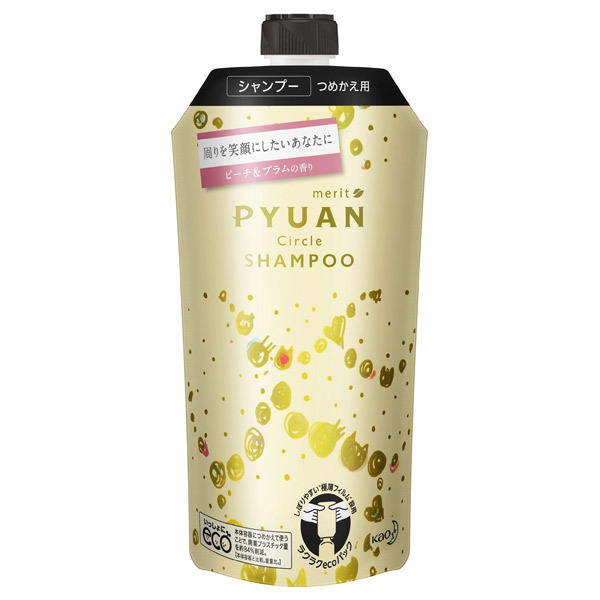 PYUAN サークル シャンプー / シャンプー詰替え / 340ml / ピーチ&プラムの香り