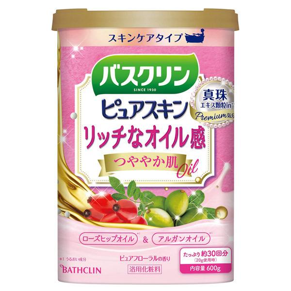 バスクリン ピュアスキン つややか肌 / 本体 / 600g / ピュアフローラルの香り