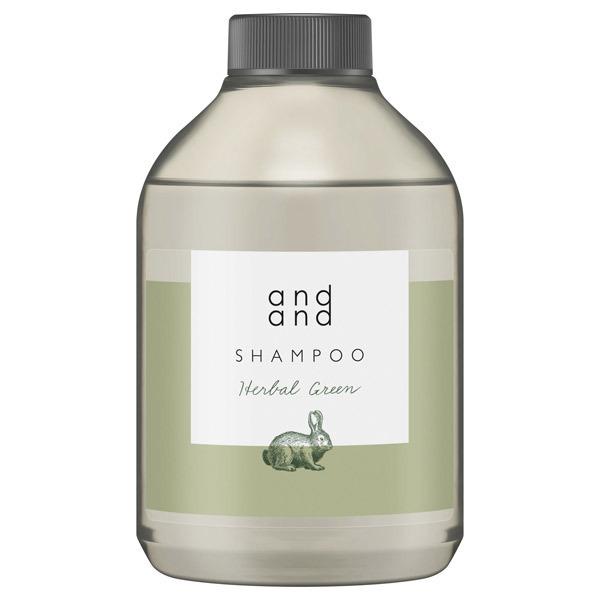 シャンプー 静かに (ハーバルグリーンの香り) / シャンプー詰替え / 480ml / ハーバルグリーンの香り