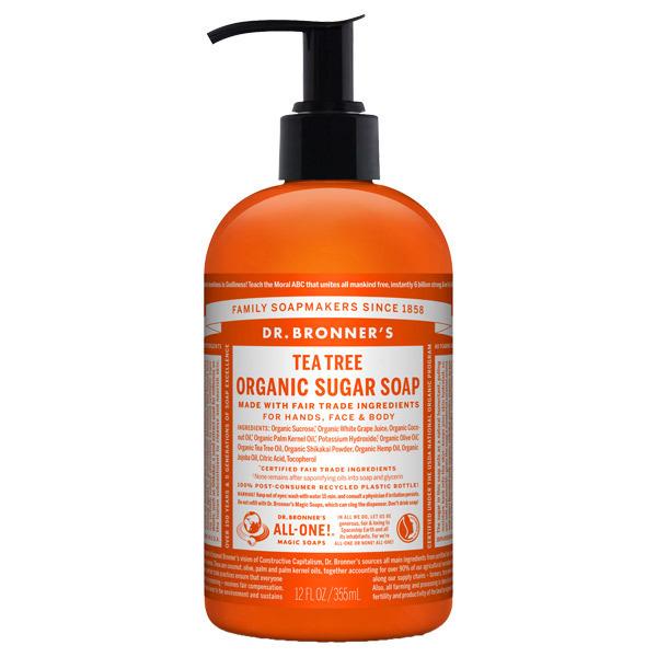 オーガニックシュガーソープ ティートゥリー / 本体 / 355ml / クリアで清潔感のある香り