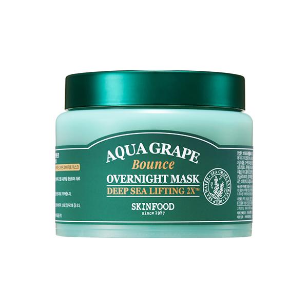 アクアグレープ バウンス オーバーナイトマスク / 本体 / 100g / しっとり / さわやかなアクアマリンの香り
