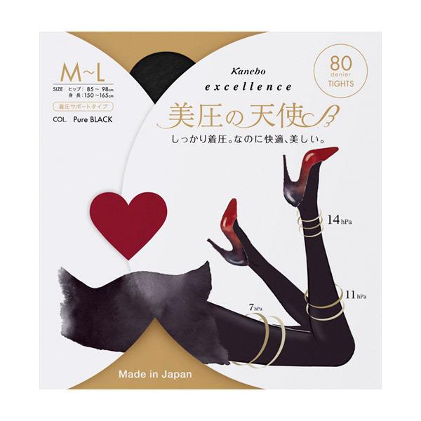 excellence 美圧の天使(80D) / ピュアブラック / M-Lサイズ/1枚