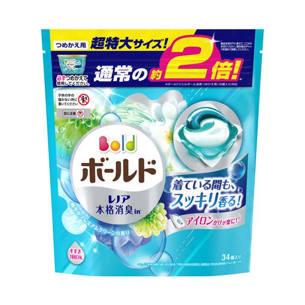 ボールドジェルボール3D 爽やかプレミアムクリーンの香り / 詰替え 超特大 / 34個 / 癒しのプレミアムブロッサムの香り