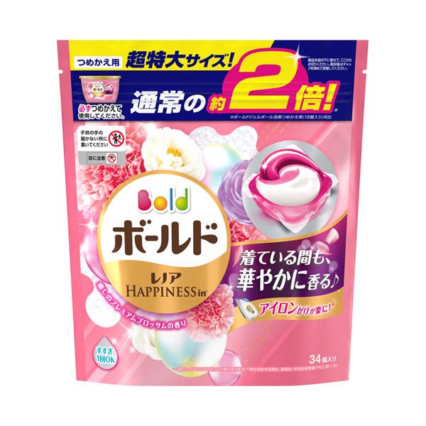 ボールドジェルボール3D 癒しのプレミアムブロッサムの香り / 詰替え 超特大 / 34個 / 癒しのプレミアムブロッサムの香り