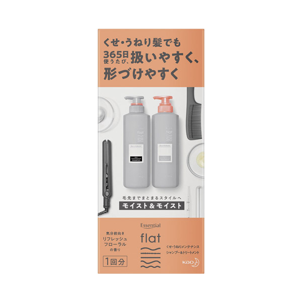 flat モイスト&モイスト シャンプー/トリートメント / トライアル / 30ml / リフレッシュフローラルの香り