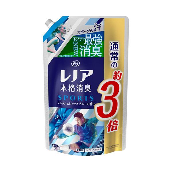 レノア本格消臭 スポーツ フレッシュシトラスブルーの香り / 詰替え / 1260ml / フレッシュシトラスブルーの香り