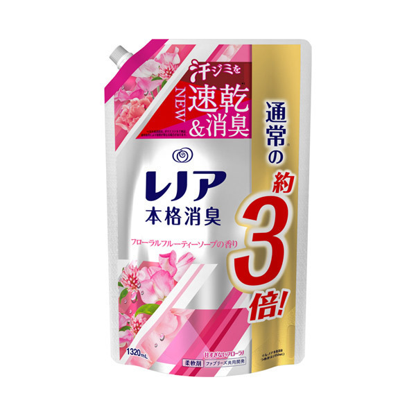 レノア本格消臭 フローラルフルーティーソープの香り / 詰替え / 1320ml / フローラルフルーティーソープの香り