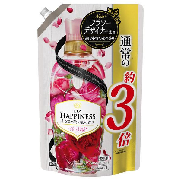 レノアハピネス アンティークローズ&フローラル / 詰替え / 1260ml 超特大サイズ / アンティークローズ&フローラルの香り