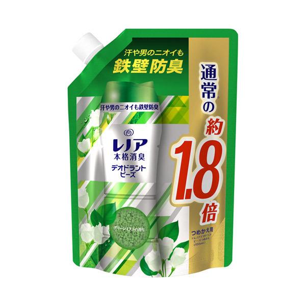 レノア本格消臭 デオドラントビーズ グリーンミスト / 詰替え / 805ml 特大サイズ / グリーンミストの香り