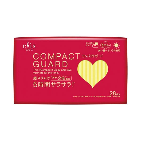 コンパクトガード / 多い昼~ふつう用 羽つき 20.5cm / 28枚入