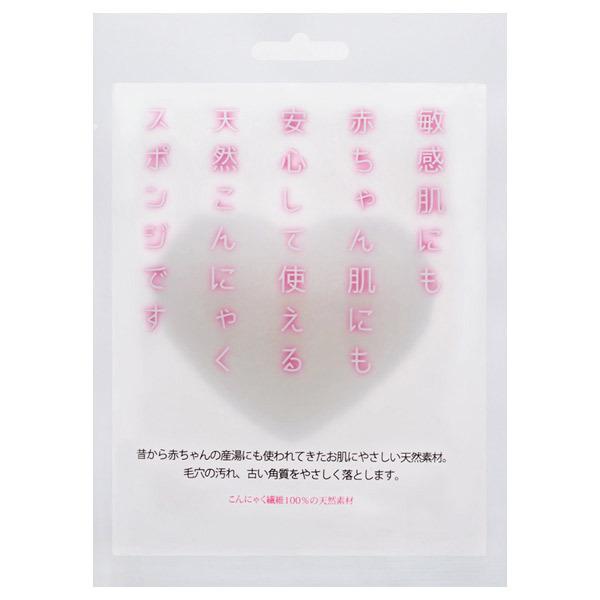 天然こんにゃくスポンジ ハート型 / 本体 / 20g