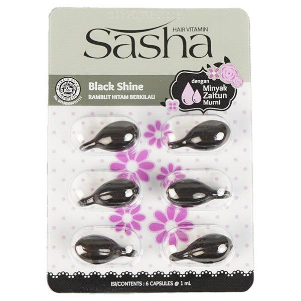Sasha(サーシャ) ブラックシャインヘアオイル シートタイプ / 1ml×6
