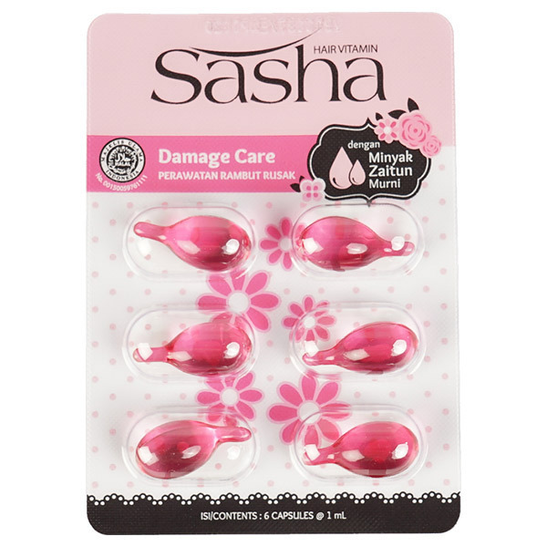 Sasha(サーシャ) ダメージケアヘアオイル シートタイプ / 1ml×6