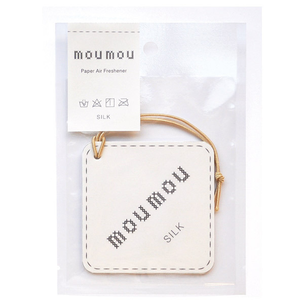 mou mou ペーパーエアフレッシュナー / 本体 / シルク / 1枚