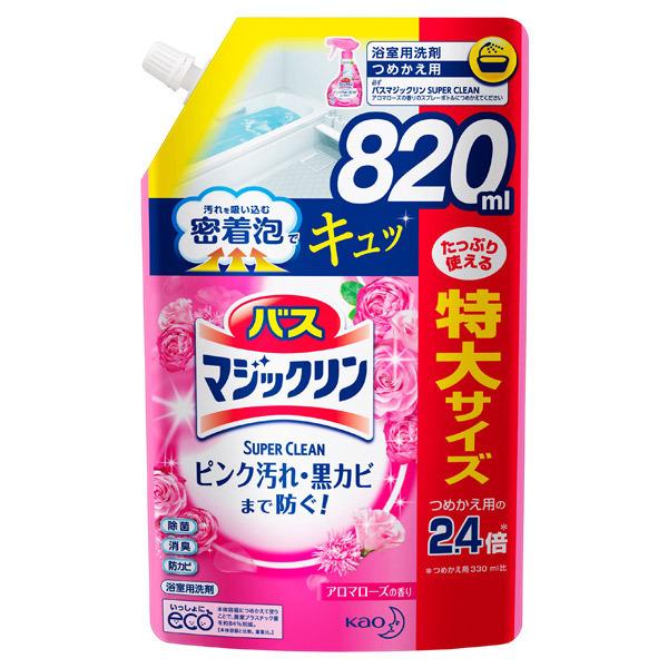 バスマジックリン 泡立ちスプレー SUPERCLEAN / 詰替え / 820ml / アロマローズの香り