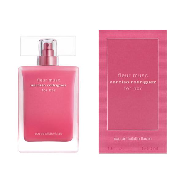 ナルシソ ロドリゲス フォーハー フルール ムスク オードトワレ フローラル / 50mL / 魅惑的なローズの香り