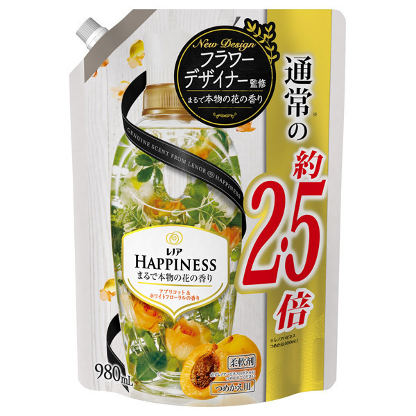 レノアハピネス アプリコット&ホワイトフローラルの香り / 詰替え / 980ml 特大サイズ