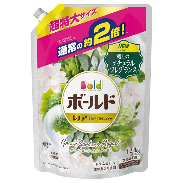 ボールドジェル グリーンガーデン&ミュゲの香り / 詰替え / 1220g 超特大サイズ / グリーンガーデン&ミュゲの香り