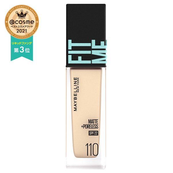フィットミー リキッド ファンデーション R / SPF22 / 110 明るい肌色(イエロー系) / 30ml