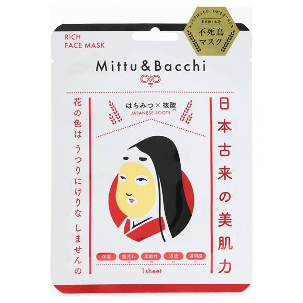 Mittu&Batti リッチフェイスマスク / 本体 / 1枚 / しっとり / はちみつの香り