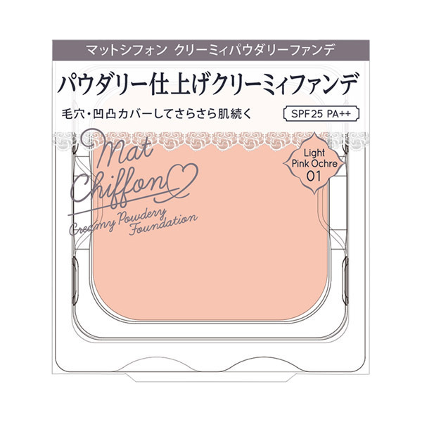 マットシフォン クリーミィパウダリーファンデ / SPF25 / PA++ / リフィル / 01 ライトピンクオークル / 10g
