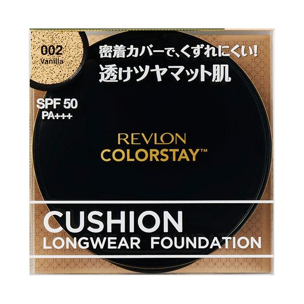 カラーステイ クッション ロングウェア ファンデーション / SPF50 / PA+++ / 本体 / 002 バニラ / 14g