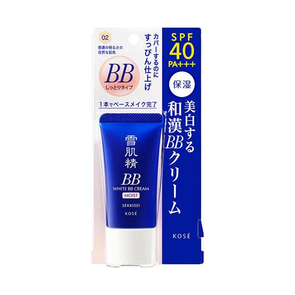 ホワイト BBクリーム モイスト / SPF40 / PA+++ / 本体 / 【02】 普通の明るさの自然な肌色 / 30g / モダンフローラル