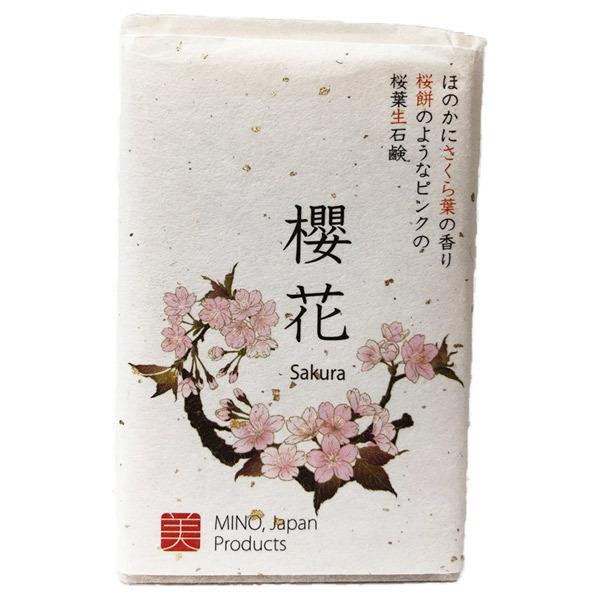 桜葉生石鹸 櫻花 / 本体 / 90g / 品質安定剤や防腐剤不使用で、優しい洗いあがり。
