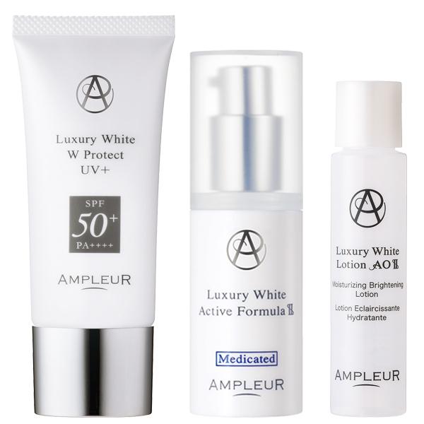 ラグジュアリーホワイト UV対策セット / SPF50+ / PA++++ / 本体 / みずみずしい透明肌へ / カモミール