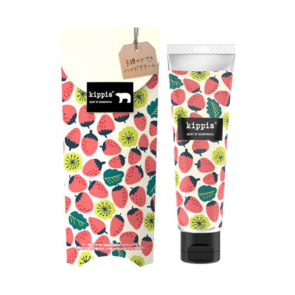 キッピス 3種のシアのハンドクリーム / 40g / 笑顔こぼれる愛され苺の香り