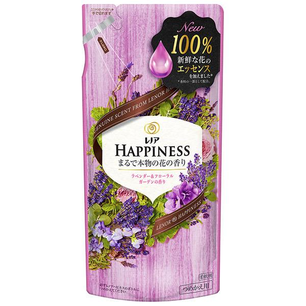 レノア ハピネス ナチュラルフレグランスシリーズ ラベンダー&フローラルガーデンの香り / 詰替 / 400ml / ほのかに漂うジャスミンとピンクフローラルと上質で自然なラベンダーの香り