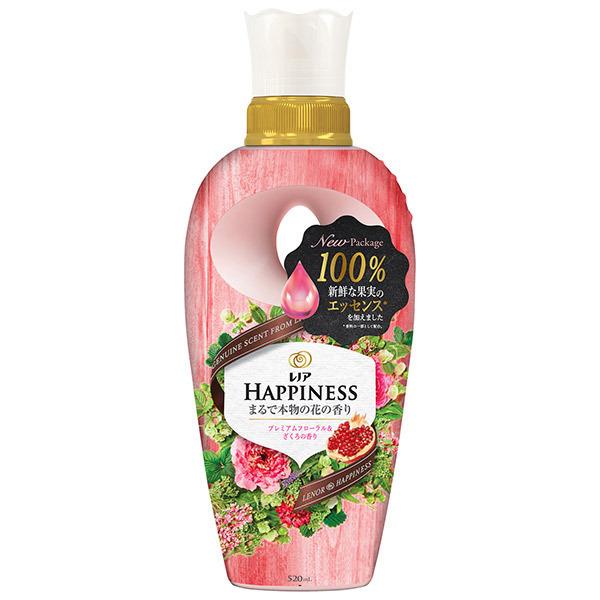 レノアハピネス ナチュラルフレグランス プレミアムフローラル&ざくろの香り / 520ml / 本体 / フレッシュなのに濃厚なザクロと、フリージアとバニラの香り
