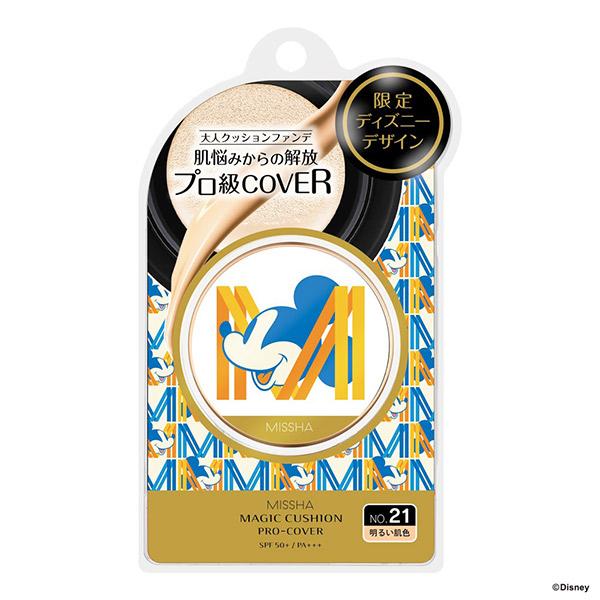 M クッション ファンデーション(プロカバー) ディズニーデザイン21AW / SPF50+ / PA+++ / No.21 / 15g / 本体